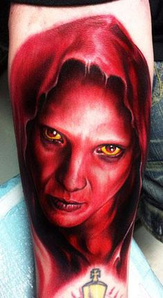Realism Devil Tattoo by Paul Acker - http://worldtattoosgallery.com/realism-devil-tattoo-by-paul-acker/