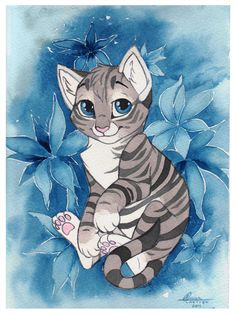 Blue Kitty by *Kamirah on deviantART
