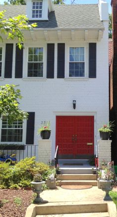 Beautiful red household doors | Richmond Fan Houses Home and Garden | Bright Bold and Beautiful