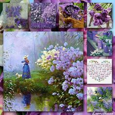 Good morning, girls ♥ Let's try something totally opposite of what we've been doing.  How about this pretty mood board in LAVENDER, PURPLE, BLUES, GREEN and WHITE.  Have a lovely Sunday, ladies ♥