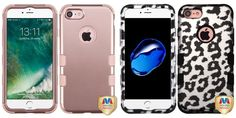 Combo pack MYBAT Rose Gold/Rose Gold TUFF Hybrid Phone Protector Cover for APPLE iPhone 7 And MYBAT Black Leopard (2D Silver)/Black TUFF Hybrid Phone Protector Cover for APPLE iPhone 7 -- Awesome products selected by Anna Churchill