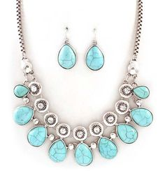 Kate Necklace Set on Emma Stine Limited  - really like the stones..