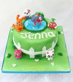 Moshi Monster Garden - by CakesbyHeatherJane @ CakesDecor.com - cake decorating website