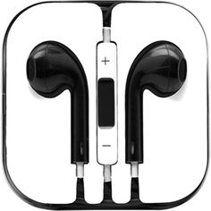 Earphones Earbud Headset Headphone with Mic for Apple iPhone iPod 3.5mm Jack
