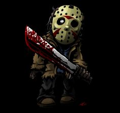 Funny parody of Jason Voorhees from the FRIDAY THE series of films. Horror Villains, Horror Movie Characters, Jason Voorhees, Horror Icons, Horror Films, Arte Horror, Horror Art, Real Horror, Jason Viernes 13