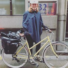 All weather style  a poncho!! #GOSTYLEDOSE Your daily dose of London cycle street style by Jacqui Ma #cyclestyle #cyclechic #bikestyle #cyclestyle #eastlondon #hackney #whyibike #singlespeed #spaceforcycling #instabike #bicycles #fixie #bikeinthecity #bikepretty #mycommute #cyclist #wellplacedbike #streetstyle #baaw