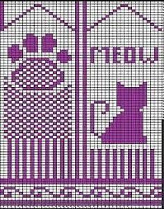 Bilderesultat for pattern for cat mittens Crochet Mittens Free Pattern, Crochet Scarf Easy, Crochet Dolls Free Patterns, Knit Mittens, Knitted Gloves, Knitting Charts, Knitting Patterns, Gato Crochet, Graph Design