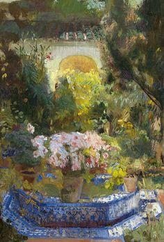 Joaquín Sorolla y Bastida, Patio de la Casa, 1917