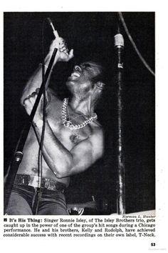 Ronnie Isley on Jet Magazine. December 13th, 1973.