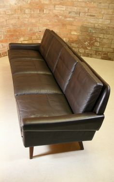 Gustar Thams 1960′s Four Seater Danish Sofa mcm
