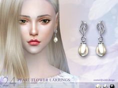 The Sims Resource: Earring 24(f) by S-Club • Sims 4 Downloads