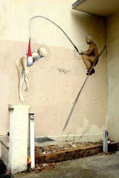 Philippe Hérard - street art - paris 20, rue de la mare (mai 2014)
