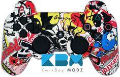 Sticker Bomb DualShock 3 PS3 Controller - KwikBoy Modz #customcontroller #customps3controller #stickerbombps3controller #ps3 #ps3controller #moddedcontroller
