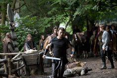 Duke Jamys taking down rebels Peter Mooney, Sinead Cusack, Tamsin Egerton, Philip Winchester, Claire Forlani, Joseph Fiennes, Jamie Campbell Bower, Eva Green, Duke