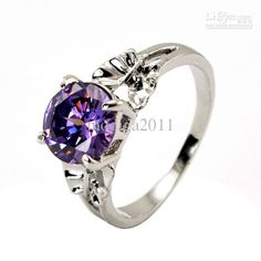 Wholesale Purple diamond ring of women.good quality, Free shipping, $8.7~9.13/Piece | DHgate