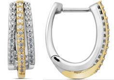 Earring is designed with combination of yellow gold & white gold. Hoops earring is designed perfectly to give an attractive look. All diamonds are set in prongs & yellow part is been not rhodium plated so it gives you proper yellow color gold. These is most running or loving design by most of the people in hoop design earrings........ Diamond Earrings, Hoop Earrings, Gold Hoops, Indian Jewelry, Diamonds, White Gold, Jewellery, Running, Yellow