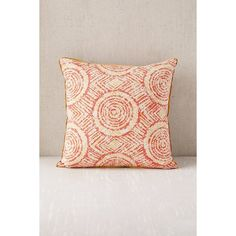 Earthy Optical Pillow (39 CAD) ❤ liked on Polyvore featuring home, home decor, throw pillows, orange accent pillows, eclectic home decor, orange throw pillows, tangerine throw pillows and orange home decor