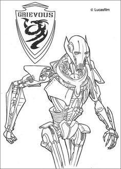 Malvorlagen Star wars, bild Eine sehr moderne Roboter