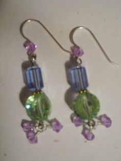 Vintage crystals - earrings