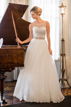 Flower Girl/Communion dresses in Melbourne & Sydney- Kylie J. Bridal & Formal - the best wedding dresses and menswear in town Elegant Wedding Dress, Dream Wedding Dresses, Designer Wedding Dresses, Wedding Gowns, Alfred Angelo Bridal, Bridal Boutique, Bridal Collection, Spring Collection, Beauty Women