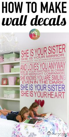 This is AMAZING! You can make your own decals to create any custom wall quote…