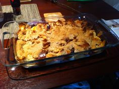 """Blueberry Meyer Lemon Bread Pudding with Rosemary """"Crumble"""""""