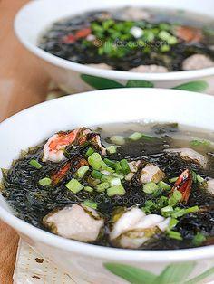 Seaweed Soup Recipe with Pork Balls 紫菜汤   Noob Cook Recipes