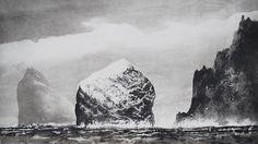 St Kilda in Sunlight - Norman Ackroyd, etching Norman Ackroyd, Wildlife Art, Art Festival, Dark Art, Light In The Dark, Contemporary Art, Illustration Art, Illustrations, Drawings