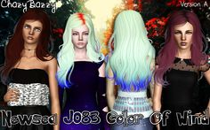 Newsea`s J083 Color Of Wind hairstyle retextured by Chazy Bazzy for Sims 3 - Sims Hairs - http://simshairs.com/newseas-j083-color-of-wind-hairstyle-retextured-by-chazy-bazzy/