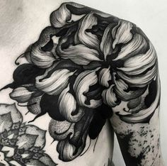 Floral shoulder piece by Kelly Violet