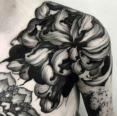 Floral shoulder piece by Kelly Violet