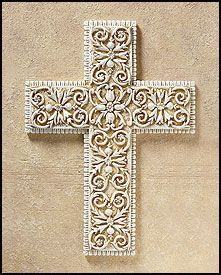 I love crosses.  This cross would be beautiful hanging on any color of wall (except maybe a white wall).