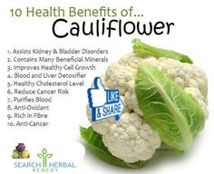Do You Know About The Benefits Of Cauliflower ... Share it with your Friends
