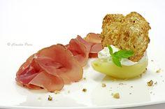 Culatello di Sauris con pere alla mousse di gorgonzola