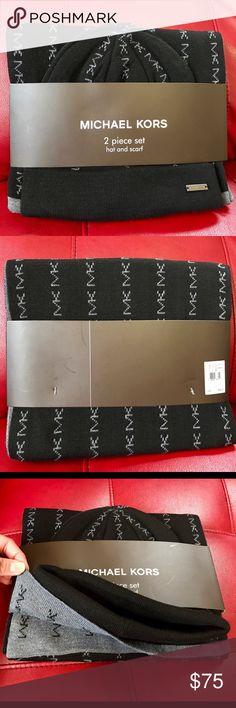 🎉Host Pick- 1/6/17🎉Michael kors 2 piece men set Brand new 2 piece hat and scarf set                     ✨Last Left✨ price is firm✨ Michael Kors Accessories Scarves