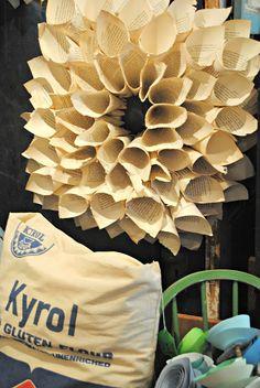 Make a Vintage Paper Wreath