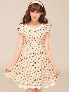 Mango Doll - Ribbon Print Lace Dress, $54.00 (http://www.mangodoll.com/all-items/ribbon-print-lace-dress/)