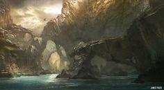 Fantasy Island, James Paick on ArtStation at https://www.artstation.com/artwork/fantasy-island