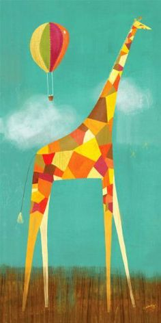 Oopsy Daisy Too Tall Giraffe Wall Art, 18 by 36 by Oopsy daisy. $136.87. Each beautiful piece includes a sawtooth for hanging and artist biography. Gorgeous children's wall art. Proudly handcrafted in the united states from artist quality canvas and then hand stretched around a wood frame. Bright colors decorate this long-legged giraffe as onlookers watch from above in a hot air balloon.