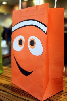 Homemade Nemo favor gift bag