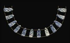 TWELVE MYCENAEAN BLUE CAST GLASS BEADS OR APPLIQUÉS CIRCA 1400-1100 B.C. Mycenaean, Minoan, Greek History, Cast Glass, Ancient Jewelry, Bronze Age, Ancient Greece, Byzantine, Ancient Art
