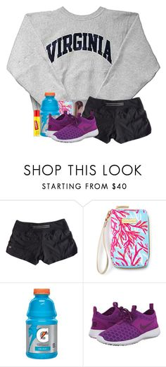 """""""If I win tomorrow then we move to the championship"""" by fashionpassion2002 ❤ liked on Polyvore featuring lululemon, Lilly Pulitzer, NIKE, Carmex, women's clothing, women, female, woman, misses and juniors"""