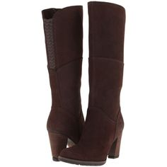 Timberland Earthkeepers Stratham Heights Tall Zip Boot Women's Boots,... (165 CAD) ❤ liked on Polyvore featuring shoes, boots, brown, tall brown boots, tall boots, brown shoes, side zip boots and tall zipper boots