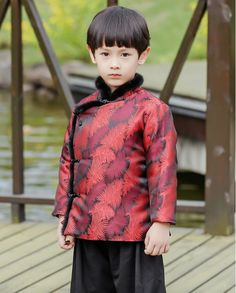 570f9e7a2 Traditional Chinese Festival Tang padded Clothing for Boys | Social ...