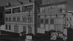 ArtStation - The Order 1886: Black Wall Yards streets - wireframes, Nestor Carpintero
