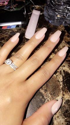 Nude nails OPI gel Acrylic nails Coffin nails #acrylicnails