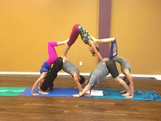 Group Acro Yoga at VIBE yoga in Allen, Tx.