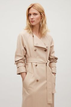 COS image 2 of Belted trench in Beige