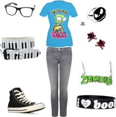 """""""Gir Nerd 3"""" by scene-queen26 ❤ liked on Polyvore Skater Girl Outfits, Skater Girls, Scene Style, My Style, Indie Scene, Scene Hair, Kawaii Clothes, Teenager Outfits, Anime Outfits"""