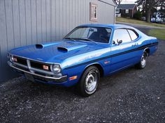 Dodge Dart Demon 340 (Like the looks of the blue scoops on the blue hood)